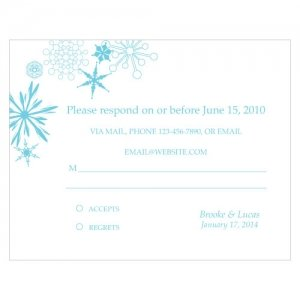Winter Finery RSVP Cards (Set of 8 - 9 Colors) image