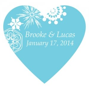 Winter Finery Heart Sticker (9 Colors) image