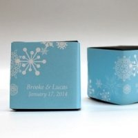 Winter Finery Favor Box Wrap (Set of 20 - 9 Colors)