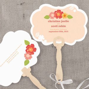 Tropical Bliss Personalized Hand Fan (4 Colors) image