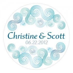 Sea Breeze Personalized Stickers (2 Sizes) image