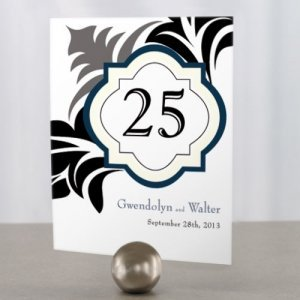 Lavish Monogram Wedding Table Number Cards image