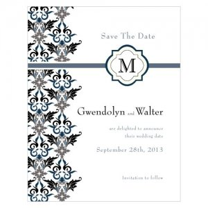 Lavish Monogram Save the Date Cards (7 Colors) image
