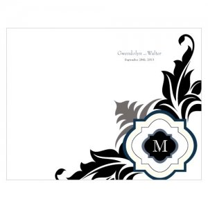 Personalized Lavish Monogram Program Paper image