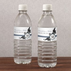 Lavish Monogram Water Bottle Labels (Set of 10) image