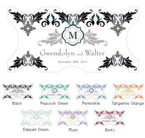 Lavish Monogram Small Window Cling (7 Colors) image