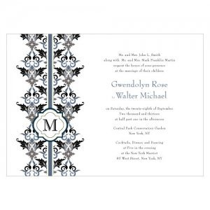 Lavish Monogram Custom Wedding Invites (4) image