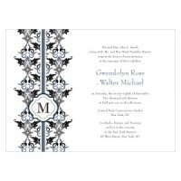 Lavish Monogram Custom Wedding Invites (4)