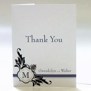 Lavish Monogram Thank You Cards (Set of 6) image