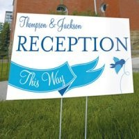 A Little Bird Told Me Wedding Sign