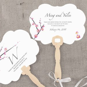 Cherry Blossom Personalized Hand Fan image