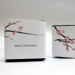 Personalized Cherry Blossom Favor Box Wrap image