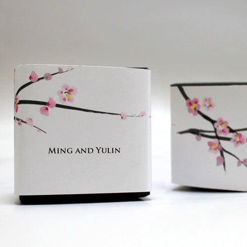 2049fe778c0 Personalized Cherry Blossom Favor Box Wrap image