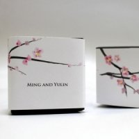 Personalized Cherry Blossom Favor Box Wrap