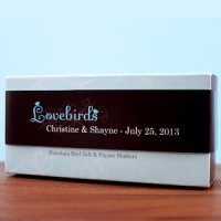 Personalized Lovebirds Wrap (Set of 16)