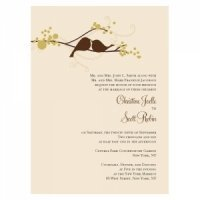 Love Birds Wedding Invitations (Set of 4 - 4 Colors)