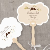 Love Bird Personalized Hand Fan (4 Colors)