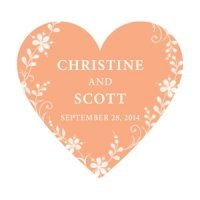 Forget Me Not Personalized Heart Sticker (9 Colors)