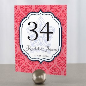 Moroccan Personalized Table Number (6 Colors) image