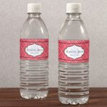 Moroccan Personalized Water Bottle Label (6 Colors)
