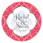 Moroccan Round Sticker (2 Sizes - 6 Colors)