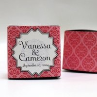 Moroccan Cube Favor Box Wrap (Set of 10 - 6 Colors)