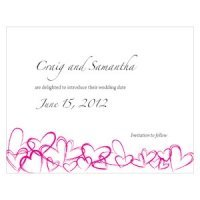 Contemporary Hearts Save the Date Cards