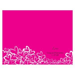 Personalized Contempo Hearts Program Paper image