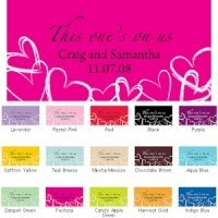 Contemporary Hearts Small Drink Ticket Sets