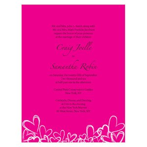 Contempo Hearts Wedding Invitations image