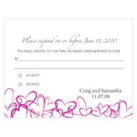 Contemporary Hearts RSVP Cards (Set of 8 - 15 Colors)