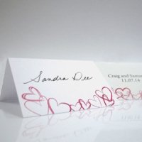 Contempo Hearts Tented Place Cards (Set of 6)
