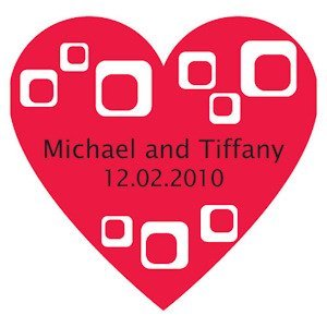 Modern Square Heart Shaped Sticker image
