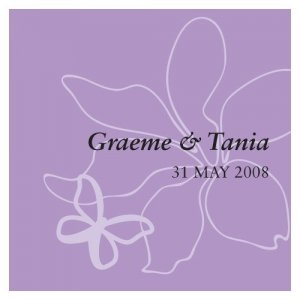 Square Butterfly Dreams Favor Tag (Set of 20 - 4 Colors) image