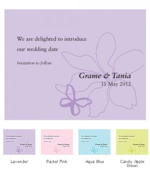 Butterfly Dreams Save the Date Cards (Set of 8 - 4 Colors) image