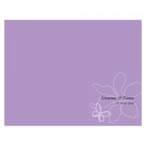 Personalized Butterfly Dreams Program Paper (4 Colors) image