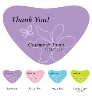 Butterfly Dreams Heart Container Label (4 Colors) image