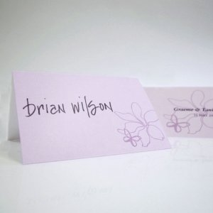 Butterfly Dreams Tented Place Cards (Set of 6 - 4 Colors) image