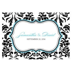 Love Bird Damask Large Oblong Tag (Set of 12) image