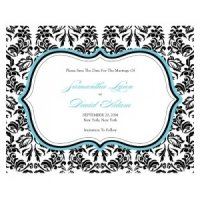 Love Bird Damask Save the Date Cards (18 Colors)