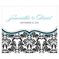 Love Bird Damask Rectangular Stickers