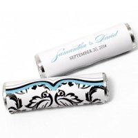 Love Bird Damask Candy Roll Wrap (Set of 24)
