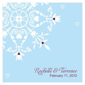 Square Winter Romance Favor Tags (Set of 20) image