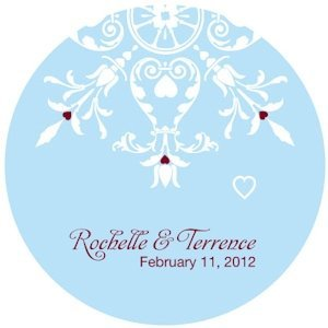Winter Romance Personalized Sticker (2 Sizes) image