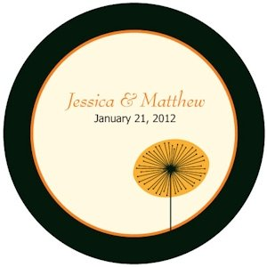 Romantic Elegance Personalized Wedding Labels (2 Sizes) image