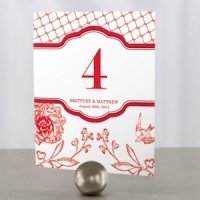 French Whimsy Wedding Reception Table Number