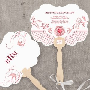 French Whimsy Personalized Hand Fans (10 Colors) image