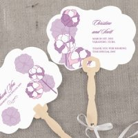 Pinwheel Poppy Personalized Hand Fan (6 Colors)