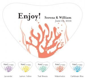 Coral Heart Container Sticker (5 Colors) image