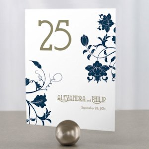 Floral Orchestra Personalized Table Numbers image